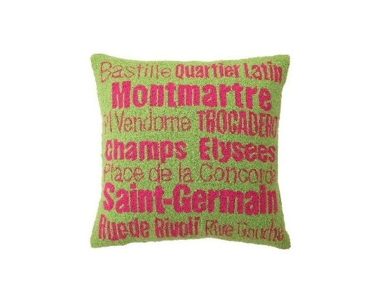 Peking Handicraft Pillow, Paris Hook - If you can't get enough of Paris, here's a great souvenir that will also add some fun color to your home.