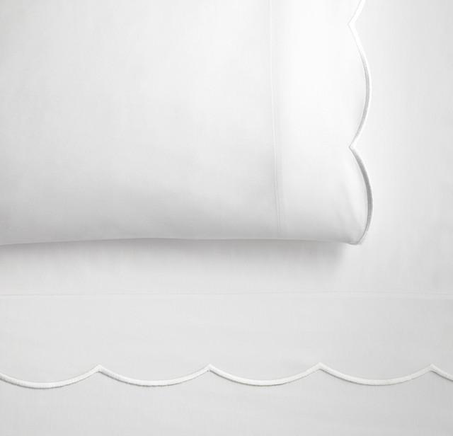 Overture Flat Sheet, White, King traditional-flat-sheets