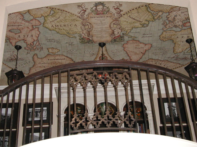 Old World Map Mural traditional
