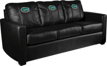 University of Florida NCAA Gators Xcalibur Leather Sofa modern-sofas