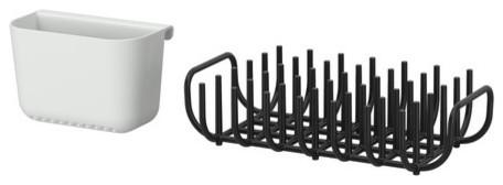 BOHOLMEN Dish drainer and flatware basket - Scandinavian - Dish Racks ...
