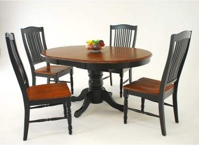 Casual Home Urbandale Dining Side Chair - Set of 2 - Ebony/Dark Walnut modern-dining-chairs