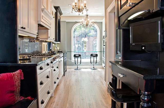 Bedford Glazed Latte and Cumberland Distressed Black with Merlot traditional-kitchen-cabinetry