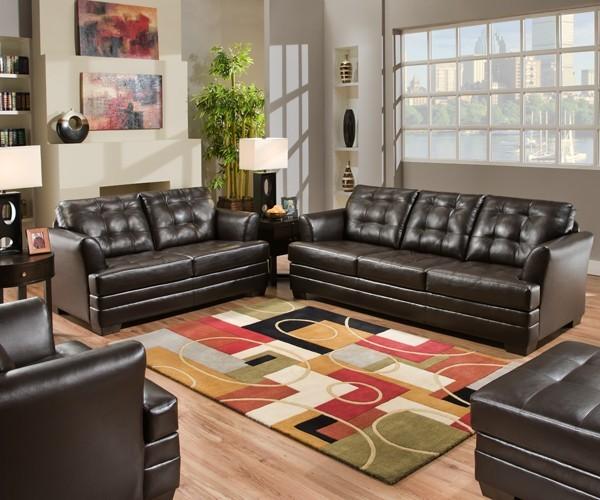 simmons upholstery manhattan espresso 4 piece living room set 2055
