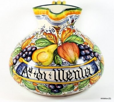 Frutta: Renaissance Boccalone Aq. Di Menta (Mint Water) mediterranean-home-decor