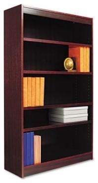 Alera BCS56036MY Square Corner Wood Veneer Bookcase - Mahogany modern-storage-cabinets
