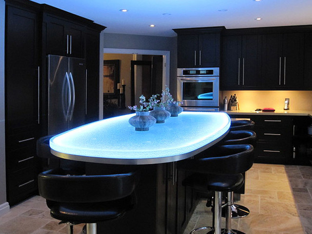 glass island contemporary kitchen islands and kitchen