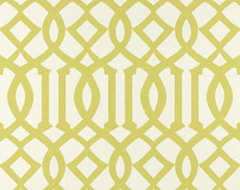 Imperial Trellis Wallpaper, Citrine contemporary wallpaper