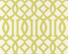 Imperial Trellis Wallpaper, Citrine contemporary-wallpaper