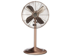 "Deco Copper 48"" High Floor Standing Fan traditional ceiling fans"