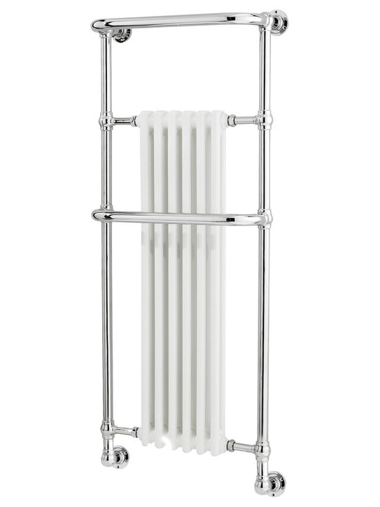 Hudson Reed - Hudson Reed Brampton Heated Towel Rail Wall Mounted - The Brampton Heated Towel Rail is a modern twist on a timeless design. Stylistic and functional the Brampton Heated Towel Rail features a traditionally style embedded radiator encased within a modern towel rail. Add style and elegance to your bathroom with this take on a classic design.   Features    Chrome  Output: 1733 BTU  Radiator valves available separately  Part of the Ultra Brampton Collection  Dimensions  Width: 575mm  Height: 1365mm  Width: 235mm  Guarantee  This product is covered by an Ultra 10 Year Guarantee