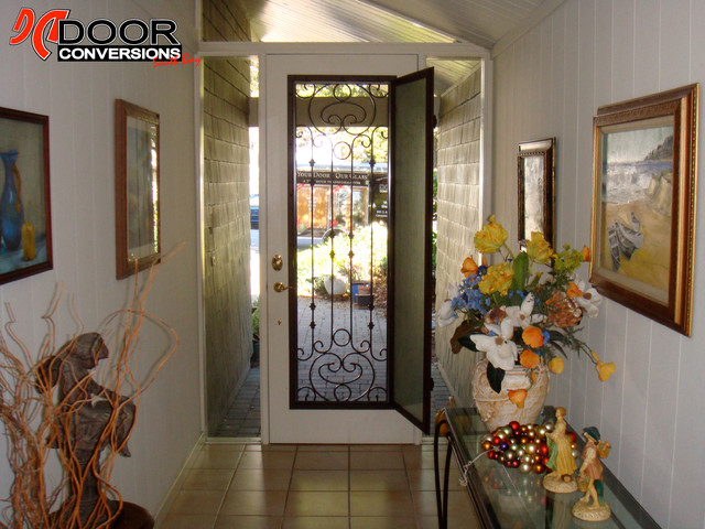 Wrought Iron Door Insert - Hinged Safety Glass (Screen ...