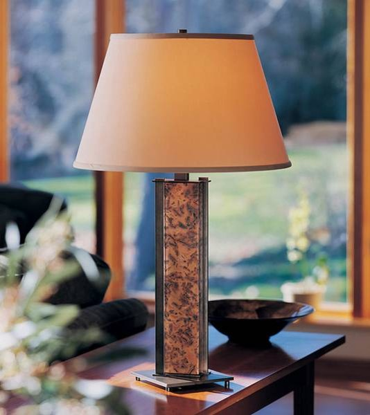 Hubbardton Forge Sierra Patina Copper Table Lamp contemporary-table-lamps