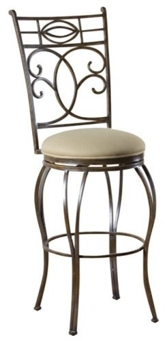 Calicut 30-Inch Swivel Bar Stool - Rustic contemporary-bar-stools-and-counter-stools