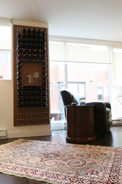 modern wine cellars vin de garde walnut wine wall modern wine cellar vancouver by vin de. Black Bedroom Furniture Sets. Home Design Ideas
