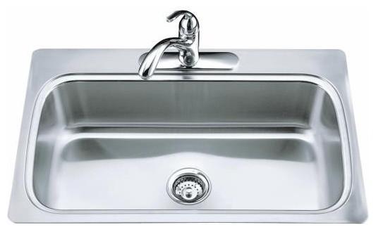 Kitchen Sink Drain Water Draining Flowing Swirling Blue