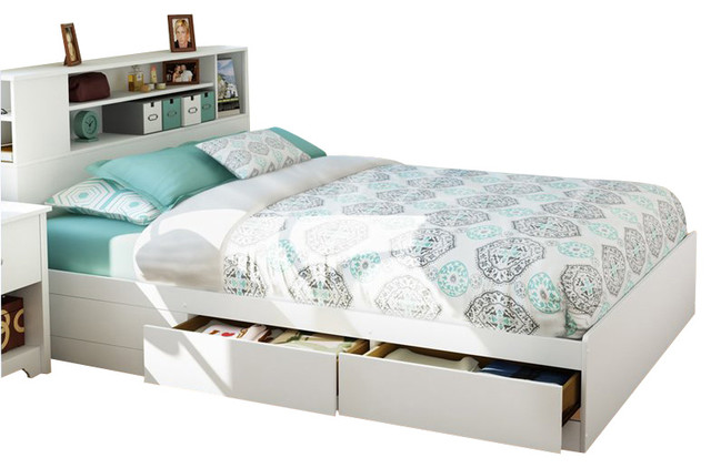 White Bed Frames With Storage white bed frame with storage queen