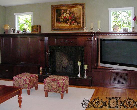 Mahogany Fireplace -