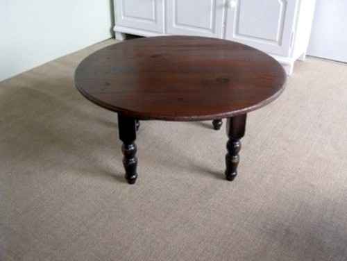 Round Wood Coffee Table Farmhouse Coffee Tables boston by ECustomFini