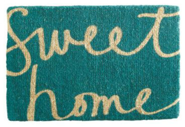 Garnet Hill Doormat Collection, Sweet Home contemporary doormats