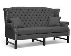 Baxton Studio Sussex Dark Gray Linen Sofa traditional-sofas