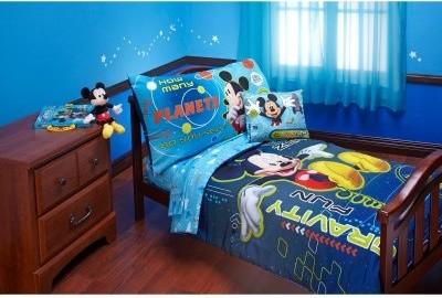 Disney Mickey Mouse Zero Gravity 4 pc Toddler Bedding Set modern-bed-pillows