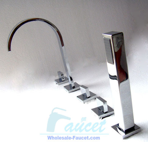 Luxury Chrome Bathroom Tub Faucet Shower 6042 contemporary bathtubs