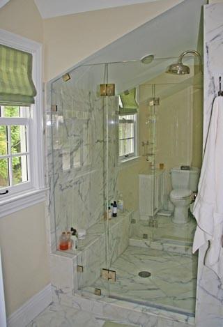 Dormer bathroom tiburon residence traditional for Bathroom dormer design