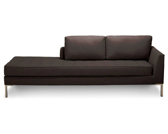 Blu Dot - Blu Dot Paramount Daybed (Left), Smoke - As comfortable as your favorite jeans. As versatile as a little black dress. This classic sofa can go anywhere in style but don't be surprised if it steals the limelight in its own quiet way. Available in ash, ceramic, graphite, lead, oatmeal, pebble, smoke or stone.