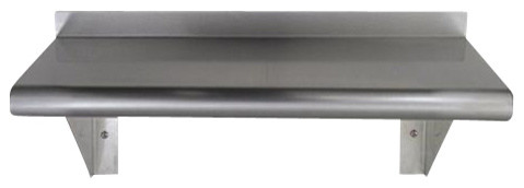 Whitehaus Cuws1024 Stainless Steel Wall Shelf traditional-display-and-wall-shelves