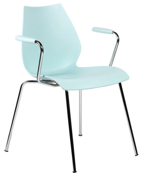 Maui Armchair, Set of 2, Matte Pale Blue modern-dining-chairs