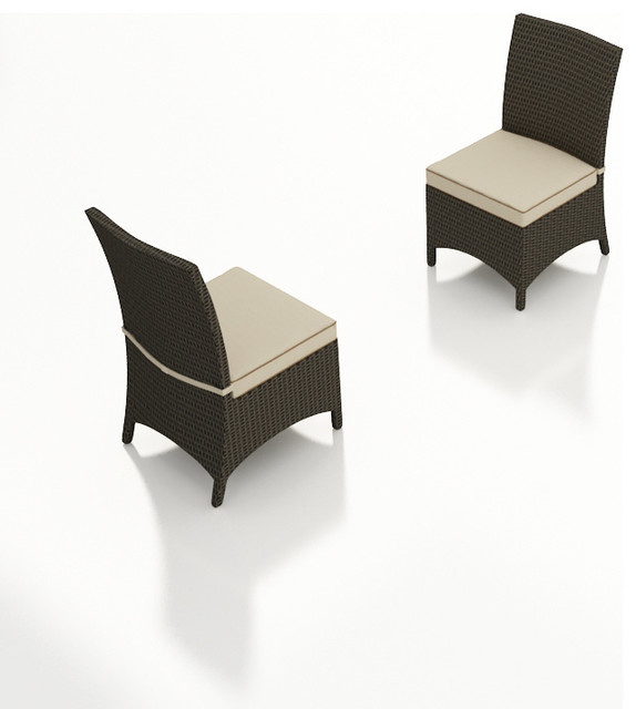 Hampton 2 Piece Patio Dining Side Chair Set, Antique Beige Cushions modern-patio-furniture-and-outdoor-furniture