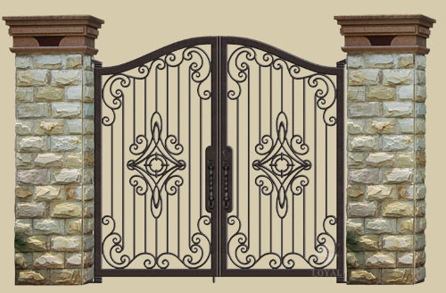IRON DOORS and GATES traditional