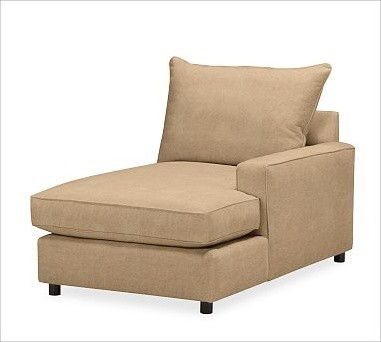 PB Comfort Square Arm Upholstered SectionalRight Chaise, Knife Edge Cushions, Po traditional-pillows
