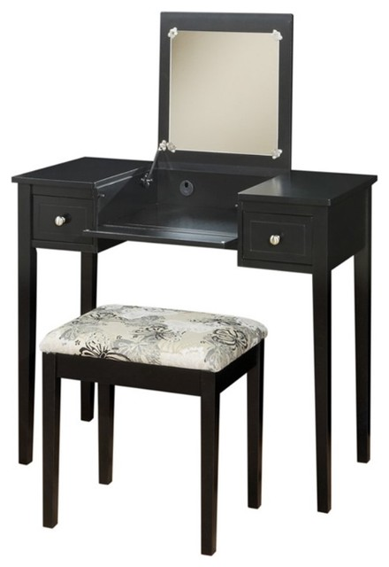 modern bedroom vanity table elaine black bedroom vanity