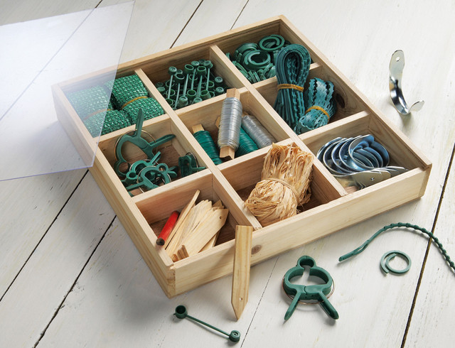 Gardening Accessories Wooden Box Kit contemporary gardening tools