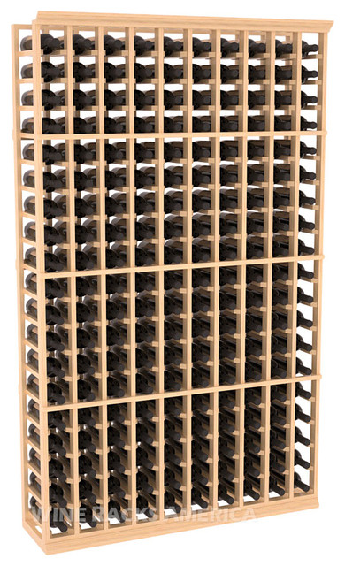 10 Column Standard Cellar Rack in Pine with Satin Finish traditional wine racks