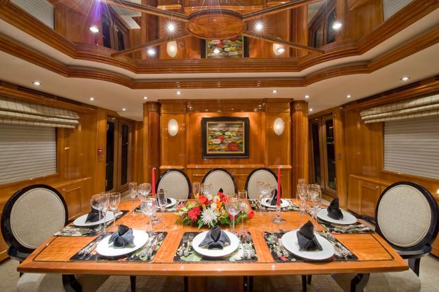 Casa Blanca Hatteras Yacht Design traditional-dining-room