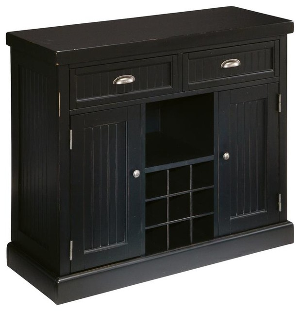 Black Kitchen Buffets And Sideboards ~ Distressed black buffet traditional buffets and