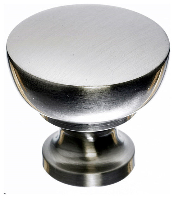 "Brushed Nickel Cabinet Knobs, 1 1/4"" traditional-cabinet-and-drawer-knobs"