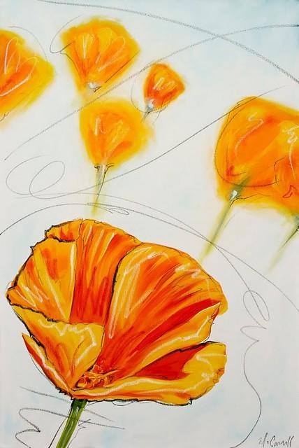 Sun In Bloom by Deborah McCarroll contemporary-artwork