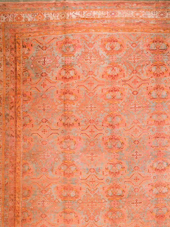"Antique Turkish Oushak Carpets - #19462 antique Turkish Oushak carpet 17'6"" x 23'0"""