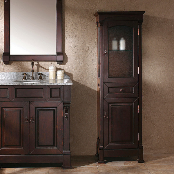 bates linen cabinet (mahogany) - Transitional - Bathroom Storage - by Thos. Baker