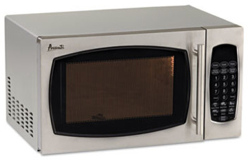 0.9 Cubic Foot Capacity Stainless Steel Microwave Oven, 900 Watts contemporary