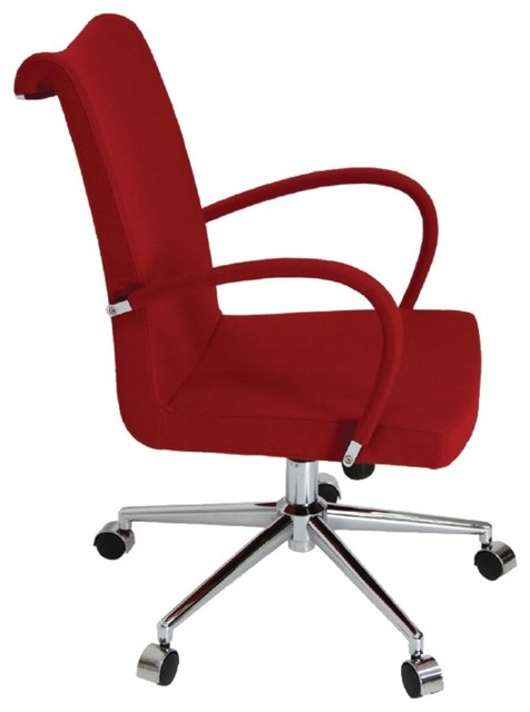Tulip Arm Office Chair by sohoConcept - Red Leatherette ...