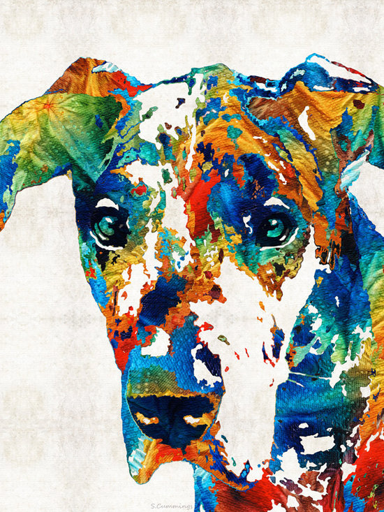 Animals, Fish and Birds - Colorful Dog Art - Heart And Soul - By Sharon Cummings
