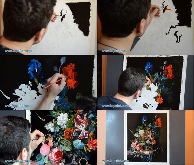 Flowers in a Silver Vase | Willem van Aelst | Art Reproduction | TOPofART.com traditional-artwork