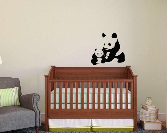 Mom and Baby Panda Cub -