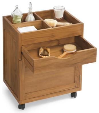 Teak Mobile Cabinet traditional-bathroom-vanities-and-sink-consoles