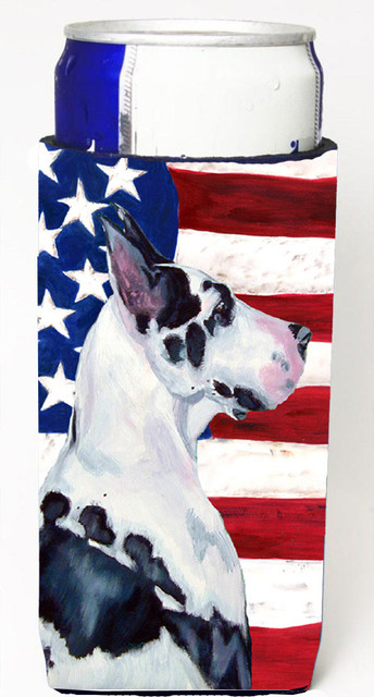 USA American Flag with Great Dane Michelob Ultra Koozies for slim cans LH9013MUK traditional-drink-sleeves